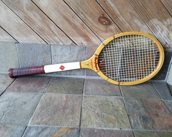 Vintage MacGregor Tournament Tennis Racket With Sun Valley Tennis Club  Zippered Cover