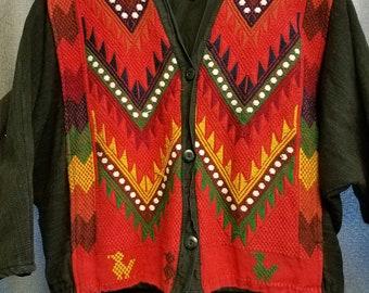 Vintage Jacket - Women's Small - Guatamala - Traditional Textile Pattern