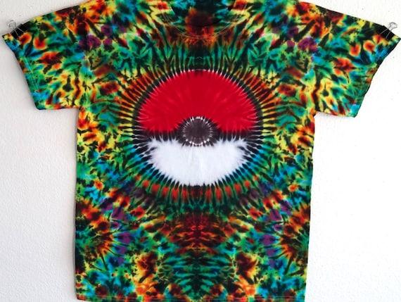 Tie dye shirt pokemon t shirt tie dye tshirt hippie shirt tie for Custom t shirts tie dye