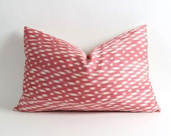ikat pillow cover, handwoven silk pillow, 14x22 ikat throw pillow, accent pillow, sofa pillow