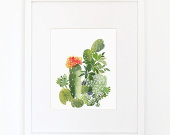 Cactus No. 3 - Watercolor Art Print