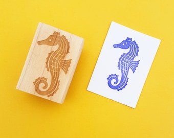Seahorse Rubber Stamp -  Nautical Wedding - Beach Wedding - Shell Stamper - Beach Gift - Shell Gift - Fish Rubber Stamp - Sea Horse