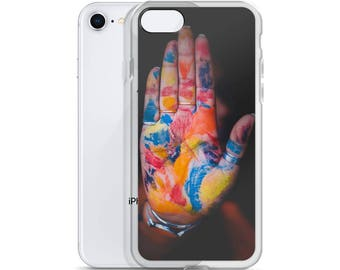 Colorful Palm Color Blasted Artists Hand iPhone Case