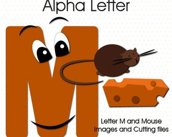 Alphabet Letter M and Mouse