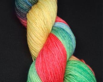75/25 Superwash Merino / Nylon sock yarn: All Saints
