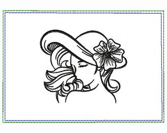 Modern Ladies 02A Small Money Purse - In The Hoop Machine Embroidery Design