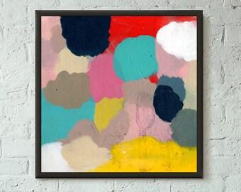 Don't Stop No. 5 of 9 // Modern Abstract Art Original 8x8 Mixed Media Acrylic Painting on Canvas Panel, Free US Shipping, Lisa Barbero