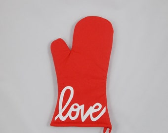 Love is the Special Ingredient Oven Mitt - Graceful Works Custom Made