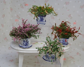 Miniature Flower Pots. Miniature Dollhouse Accessories. Miniature Plants. Garden Plants, Accessories. Barbie Accessories, Plants, Flowers