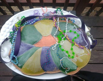 Mardi Gras King Cake Convertible Purse/Handbag