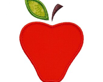 """Apple Appliques Machine Embroidery Designs Applique Pattern in 4 sizes 3"""", 4"""", 5"""" and 6"""""""