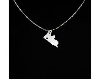 Liberia Necklace - Liberia Jewelry - Liberia Gift