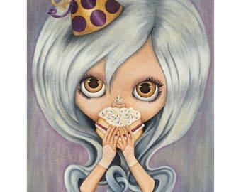 Cake Face limited edition Blythe doll giclée print big eyes art