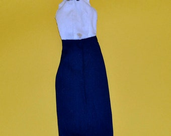 Vintage  HTF 1975 Mego Wonder Woman original navy blue and white dress Diana Prince- fits 11 1/2 and 12 inch dolls