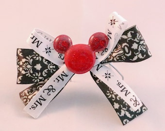 Mickey/Disney Pin/Brooch - Honeymoon/Anniversary - handmade