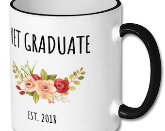 Vet Graduate Est 2018 mug, veterinarian,vet graduation,graduation gift,vet,vet gift,vet gifts,vet mug,vet mugs,vet coffee mug,vet graduate