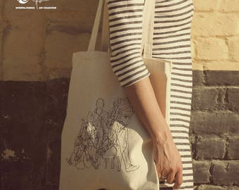People High Quality Canvas Tote Bag by SeventeaStudios I Art Collection Women City Shopping
