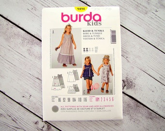 Burda Sewing Pattern 9494 Size US 3/EUR 98