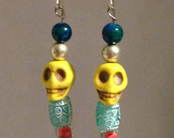Yellow and Blue Skulls