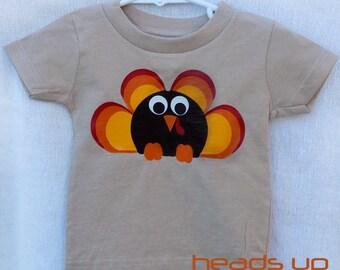 Toddler Boy/Girl Turkey Shirt Thanksgiving - Baby Thanksgiving Turkey Bodysuit - Kids Thanksgiving tshirts Turkey - Turkey Thanksgiving Tee