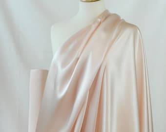 """100% Silk Fabric By the1/2 Yard 45"""", Light Pink 19mm Mulberry SIlk Charmeuse"""