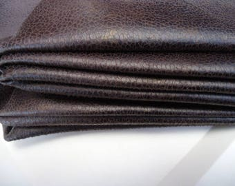 Coupon - 50X40cm - faux leather - Brown bronze-
