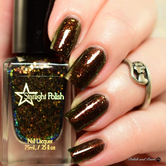 Phoenix Aurora Night Black Iridescent Color Shifting Glitter