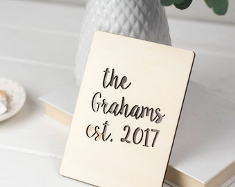Personalised Wooden Wedding Card - wedding anniversary card - wedding card - fifth anniversary card - card for husband - card for couples