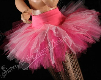 Princess rose Streamer tutu skirt adult mixed pink bridal club roller derby halloween flower fairy --You Choose Size -- Sisters of the Moon