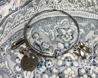 Cinderella Quote Bracelet