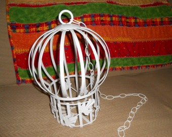 Birdcage Bird Cage Vintage Home Interiors and Gifts, Inc White  Metal Decorative