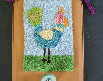 Tropical Bird Punchneedle Embroidery Pattern