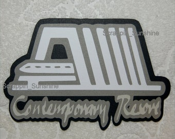 DISNEY Contemporary Resort - Die Cut Title Scrapbook Page Paper Piece - SSFF