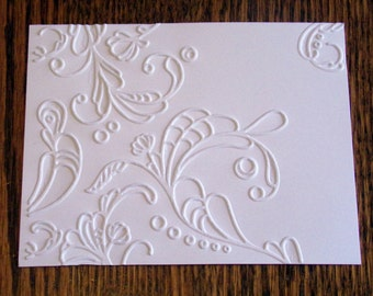 ELEGANT LINES Embossed Card Stock Panels Perfect for Scrapbooking and Card Making - Set of 12