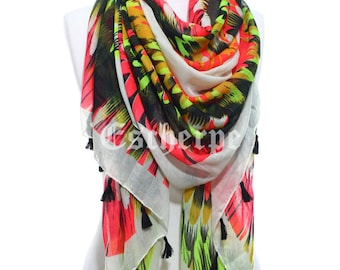 SPRING SALE Neon Wings Scarf, So Soft Lightweight Fall Winter Scarf Women's Fashion Accessories Mother's Day  Ideas