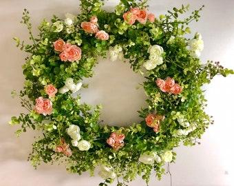 English countryside wreath, spring door wreath, wreath for spring, spring decor, door wreath, a wreath, wedding decor