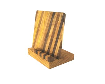 Tablet Stand \ Smartphone Stand \ Cellphone Stand \ Docking Station Ash, Mulberry, Walnut, and Black Walnut #2