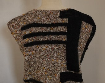 SWEATER gold and black (OOAK)