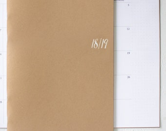2018 / 2019 large monthly academic planner | 2 pages per month