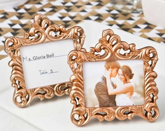 Rose Gold Frames - Set of 25 - Place Card Holders for your Wedding