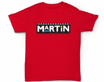 Martin logo T-shirt - Television Sitcom Show TV T.v. 90's fashion 80s hip hop rap old school Tisha Campbell-Martin Lawrence Tommy Cole Payne