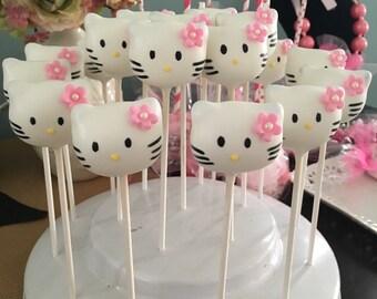 Kitty Cat inspired Cake Pops