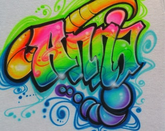 Free style custom airbrush name designs