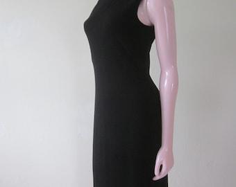 "1990s Sleeveless Black Knit Sheath for ""Saks Fifth Avenue,"" Size 6"