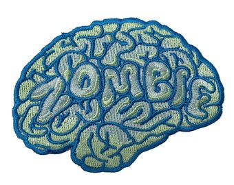 Zombie Brain Monster Parody Iron on Embroidered Patch On  HS P - CHL - 0067