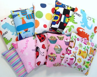 KIDS BEAN BAGS - Mixed set of 10 - Party Favor - Stocking Stuffer