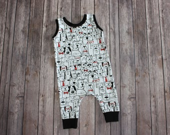 Baby Romper - Toddler Romper - Baby Harem Pants - Toddler Harem Pant - Dog Harem Pants