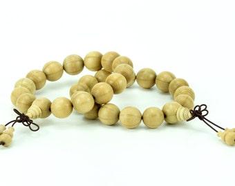 "20MM Natural Large Flowered Abelia Prayer Buddha Mala Meditation Beads Round Beads 8.5""(50846-252)"