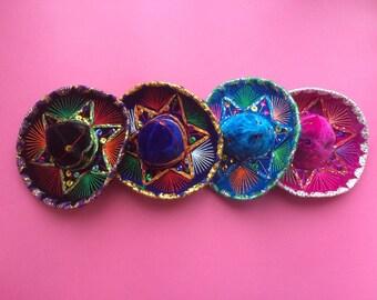Mexican Mini Charrito, Cat Hat, Party Favor, Wedding Favor, Baby Hat, Child Hat, Centerpiece, Fiesta, Dress UP, Decoration, Cinco De Mayo