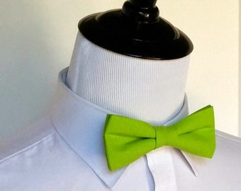Lime Green Bowtie - Men's, Teen, Youth      2 weeks before shipping